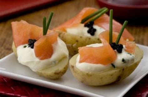 and easy canapes 50 and easy canapes salmon and caviar topped