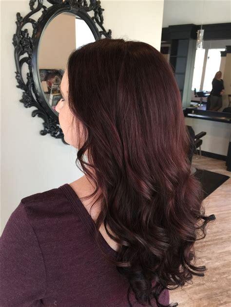 dark mahogany hair color  extensions hair  beauty