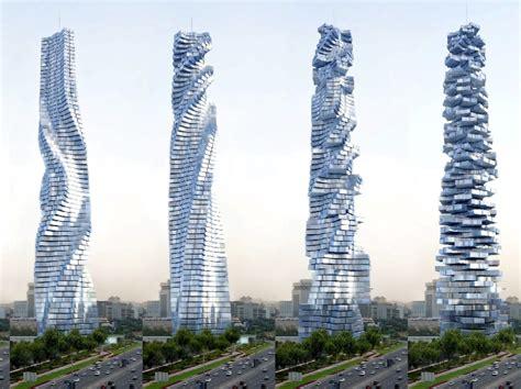 architektur wolkenkratzer mit drehmoment welt