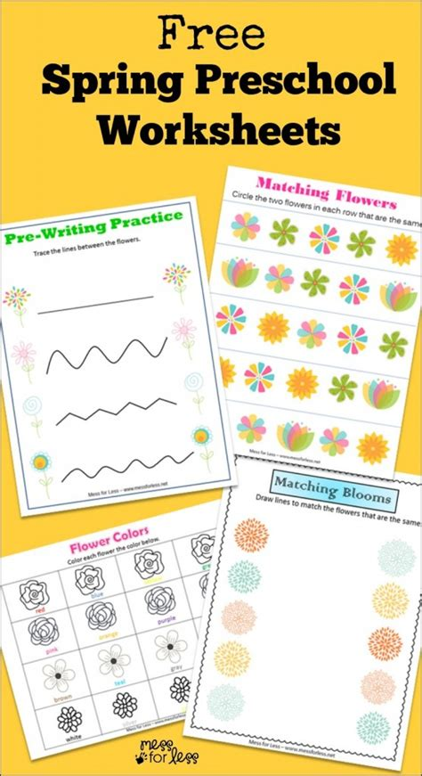 free preschool worksheets mess for less