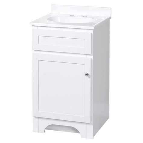 columbia 18 inch white bath vanity with cultured marble