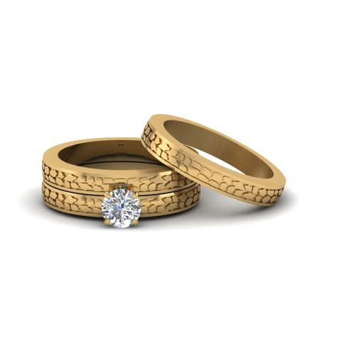 browse   yellow gold trio wedding ring sets