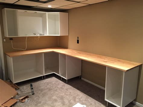 Installing Ikea Sektion Kitchen Cabinets as Basement