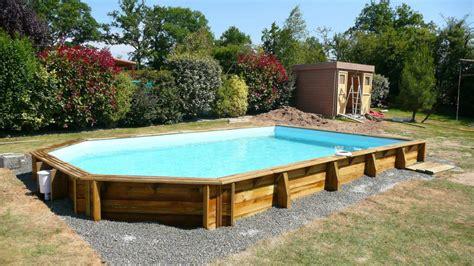 photo piscine bois semi enterrée leroy merlin