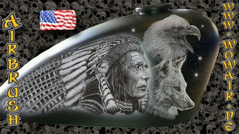 airbrush  wow  indian chief  english