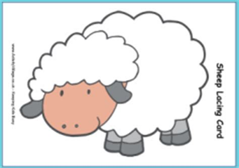 kids sheep lacing template updated