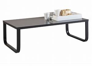 Table Basse Noir : table basse noir verre table de salon fer et bois maisonjoffrois ~ Teatrodelosmanantiales.com Idées de Décoration