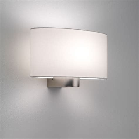 astro napoli matt nickel wall light at uk electrical supplies