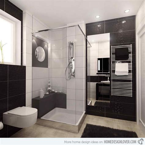 black white bathrooms ideas 20 sleek ideas for modern black and white bathrooms home design lover