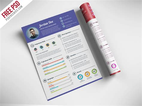 free creative resume for web designer psd psdfreebies