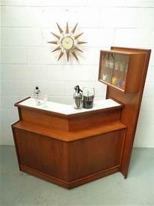 Retro Vintage 50s 60s Turnidge Teak Cocktail Home Drinks ...