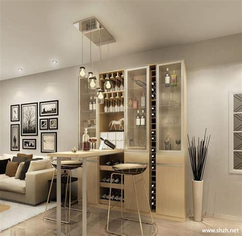现代简约客厅壁橱沙发酒柜家具效果图-上海装潢网