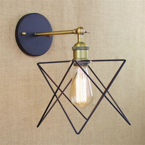 industrial retro antique gold metal wire star wall l