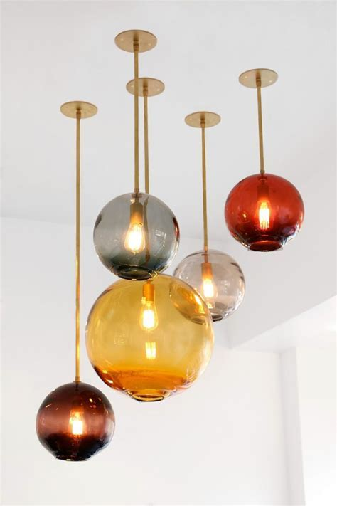 Pendant Lighting Ideas: Best colored glass pendant lights
