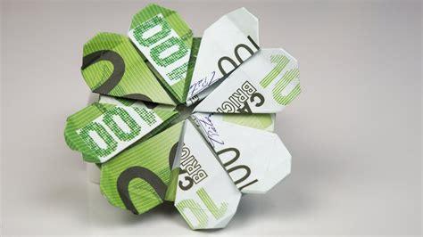 geldgeschenk geburtstag kleeblatt aus euro geldschein