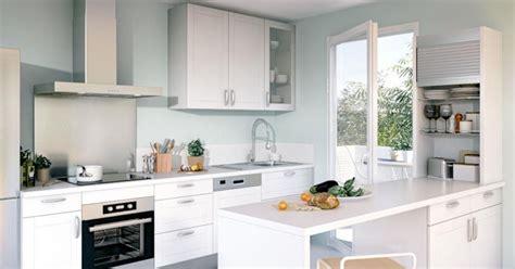image cuisine blanche la cuisine blanche lumio de lapeyre