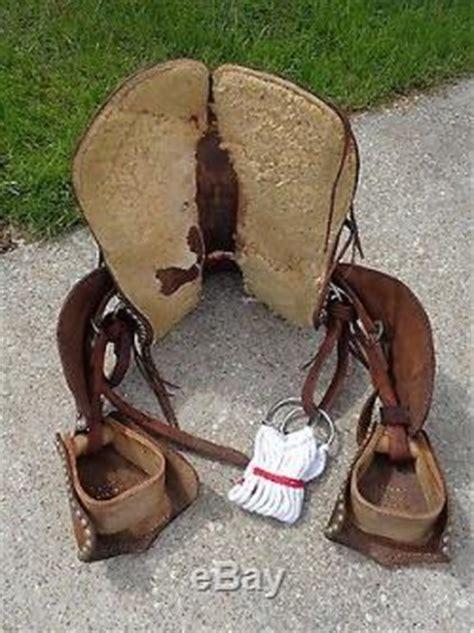 vintage kids leather western ponymini horse saddle