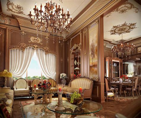 Architectural Classic Living Room 3d