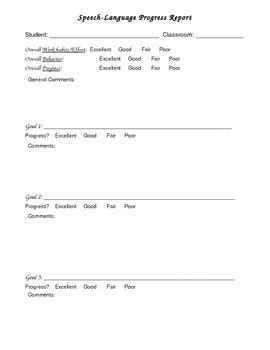 Speech Therapy Progress Report Template by Progress Note Speech Therapy By Pamelaslp Teachers