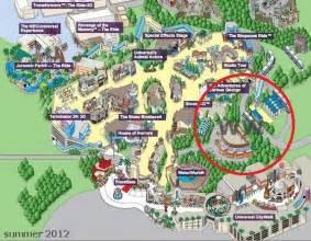 Harry Potter Universal Studios Hollywood Map