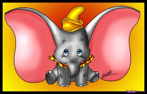 How To Draw Dumbo, Step By Step, Disney Characters