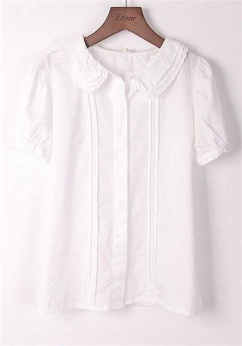 white cotton blouse white sleeve stud cotton blend blouse blouses