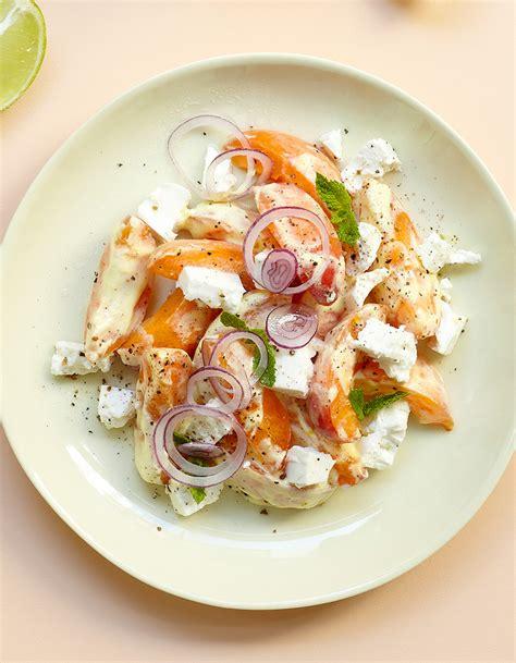 cuisine du soir salade abricots feta pour 4 personnes recettes à table