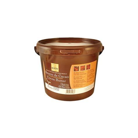 beurre de cacao barry en 3 kg