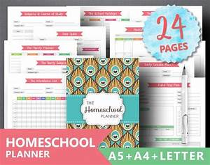 monthly attendance tracker homeschool planner printable teacher planner