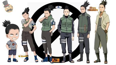 naruto characters nara shikamarus evolution youtube