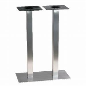 Pied De Table Haute : pi tement de table haute en inox bross ultra plat pour 4 ~ Dailycaller-alerts.com Idées de Décoration