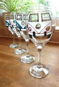 VW Bus Wine Glasses
