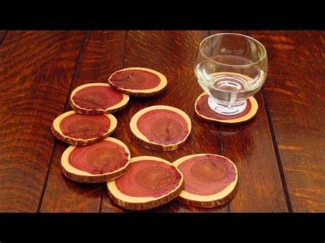 diy wood coasters    log    drink