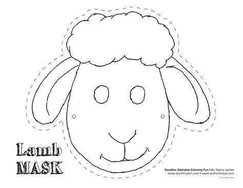 lamb mask theatrics kiddos play craft coloring