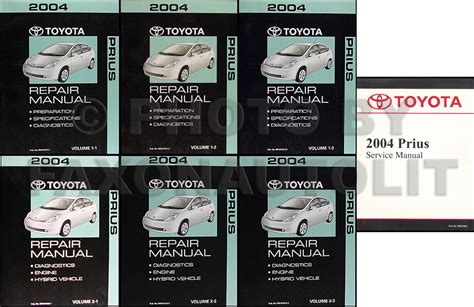 old car owners manuals 2004 toyota prius user handbook 2004 toyota prius 3 volume set repair shop manual