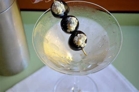 martini olive black and blue martini three many cooks
