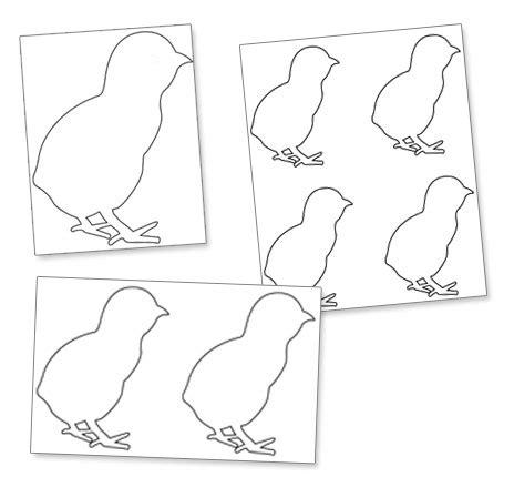 Easter Chick Template Printable