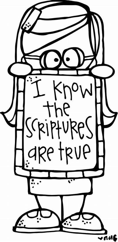 Lds Melonheadz Scriptures Primary True Coloring Know