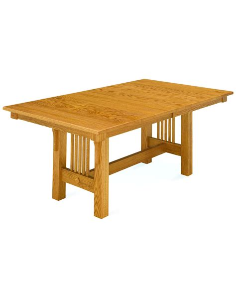 trestle table and chairs trestle mission dining table amish direct furniture