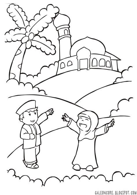 gambar mewarnai anak tk islam