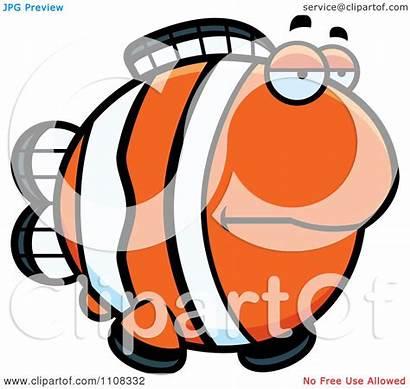 Bored Illustration Clipart Vector Clownfish Royalty Regarding