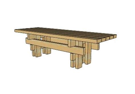 japanese garden bench sketchup model popular woodworking