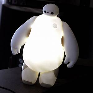 big hero 6 baymax 18cm led lamp lighting white table With big hero 6 table lamp