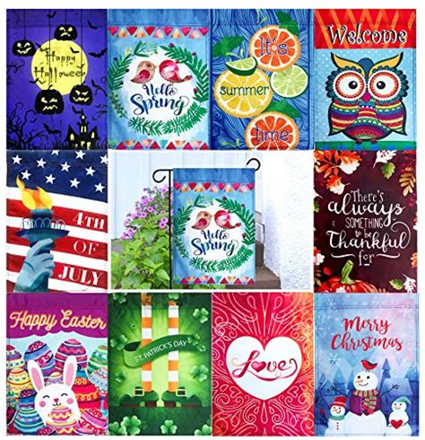 seasonal garden flags seasonal garden flag set of 10 12 x 18 flags patio