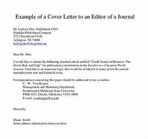 Sample cover letter for journal article submission for Letter journal