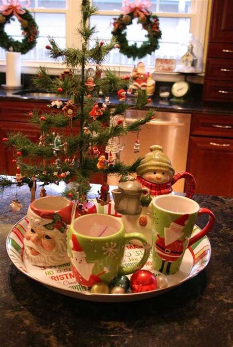 fun ideas bringing  christmas spirit   kitchen