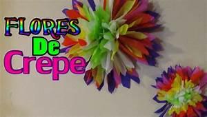 Como hacer FLORES DE CREPE! // DIY Crepe paper flowers YouTube