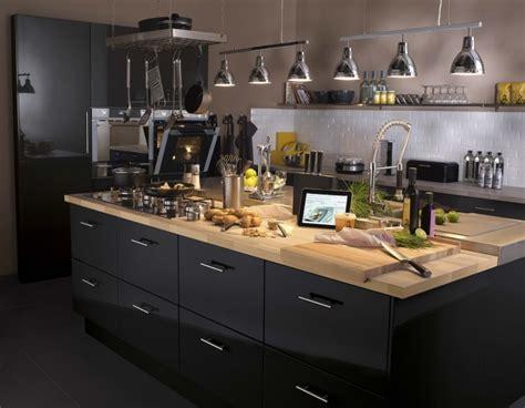 meuble de cuisine noir un meuble de cuisine noir leroy merlin
