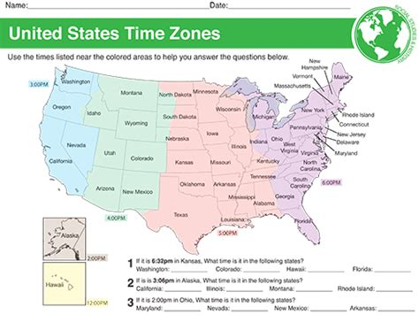 time zones worksheets time alistairtheoptimist free