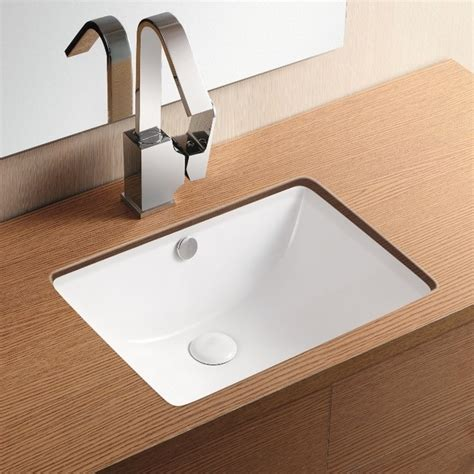 Rectangular Sinks Bathroom by Rectangular White Ceramic Undermount Bathroom Sink